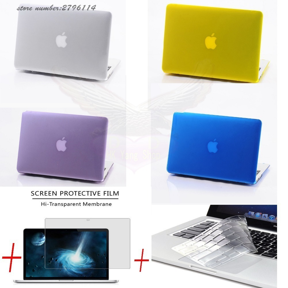 3 in 1 For Mac Book Air 11 Pro 13/15 Retina 12 Cover Case Protector for Macbook Air 13 Touch bar 2018 2017 2016 2012 2013 2015 image