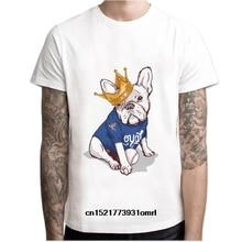 daccdb59a Men t shirt French Bulldog white boy tshirt anime clothes male color tees  M7R1355 t-