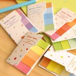 Bloco de notas pegajosas bloco de notas marcador papel adesivo artigos de papelaria material escolar arco-íris cores estudantes almofada dupla face