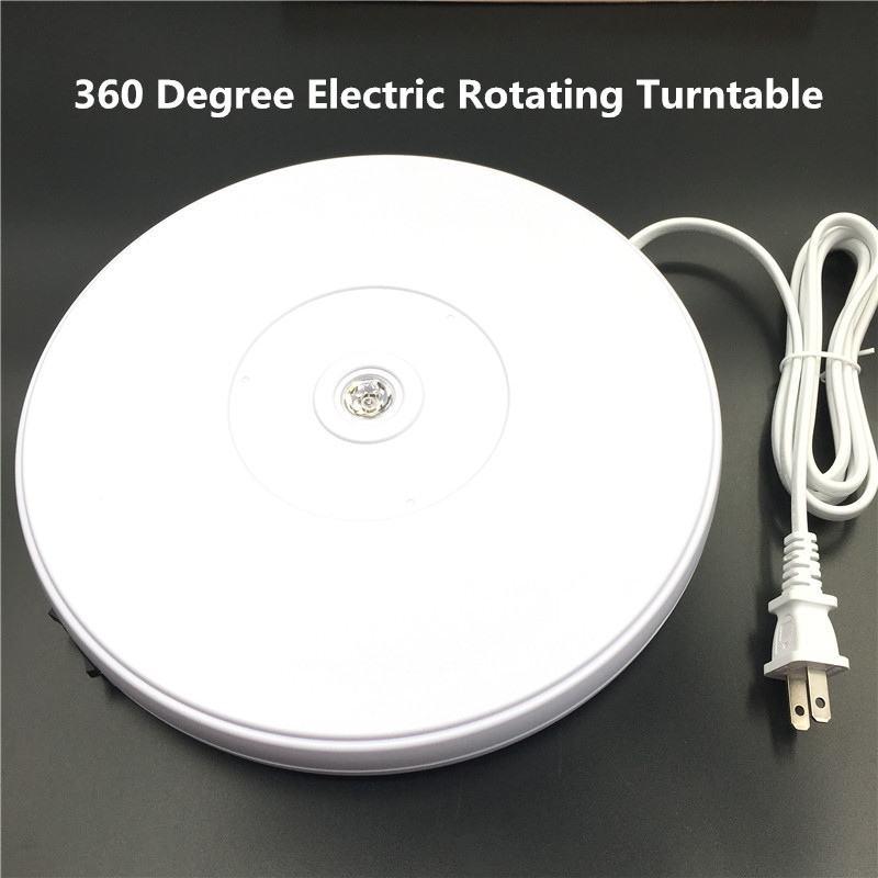 Image 4 - 10 25cm Led Light 360 Degree Electric Rotating Turntable for  Photography, Max Load 10kg 220V  110VPhoto Studio Accessories   -