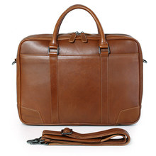 JMD Fashion Leather Laptop Bag Genuine Top Handbag Mens Briefcases 7348B