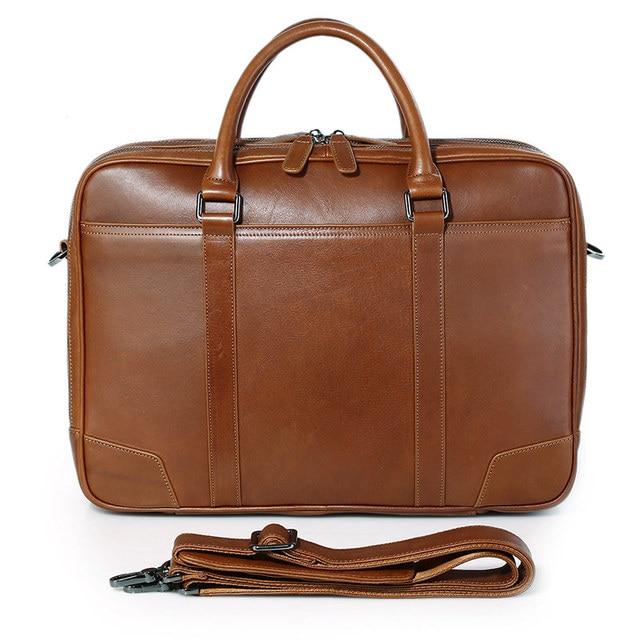J M Dj D Fashion Leather Laptop Bag Genuine Top Handbag Men S Briefcases 7348b