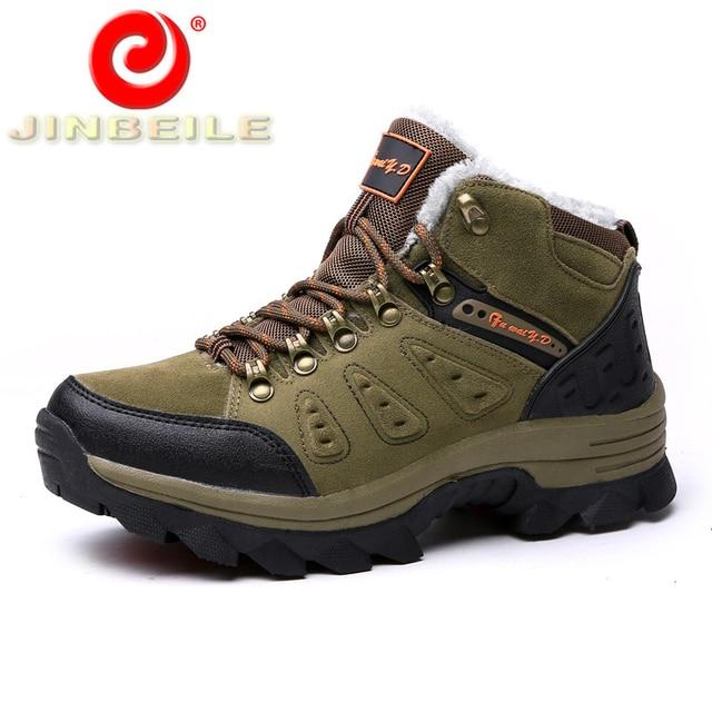 JINBEILE Professional Winter Unisex Hiking Shoes Men & Women Cool Hard Wearing Outdoor Sneakers Comfortable Sport Shoes 36-48