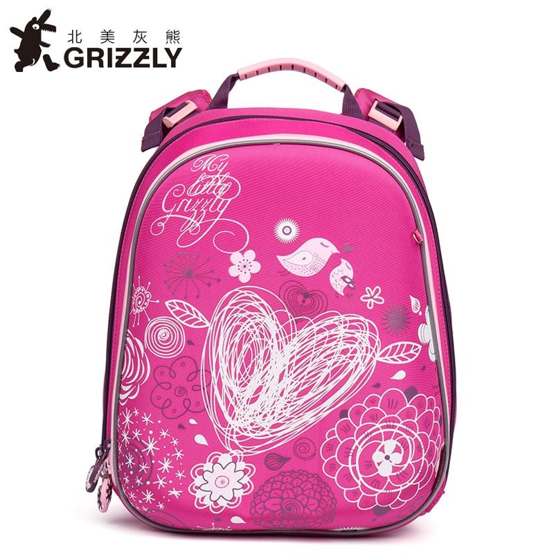 школьный рюкзак гризли для девочек 1 класс - GRIZZLY New Fashion Girls Students Cartoon School Bags Orthopedic Waterproof Primary School Backpacks for Children Grade 1-4
