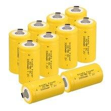 10Pcs Anmas Power Yellow Color 1.2V 3300mAh SC NI-MH Rechargeable Battery NI-MH Sub C Rechargeable Battery Cell цена в Москве и Питере