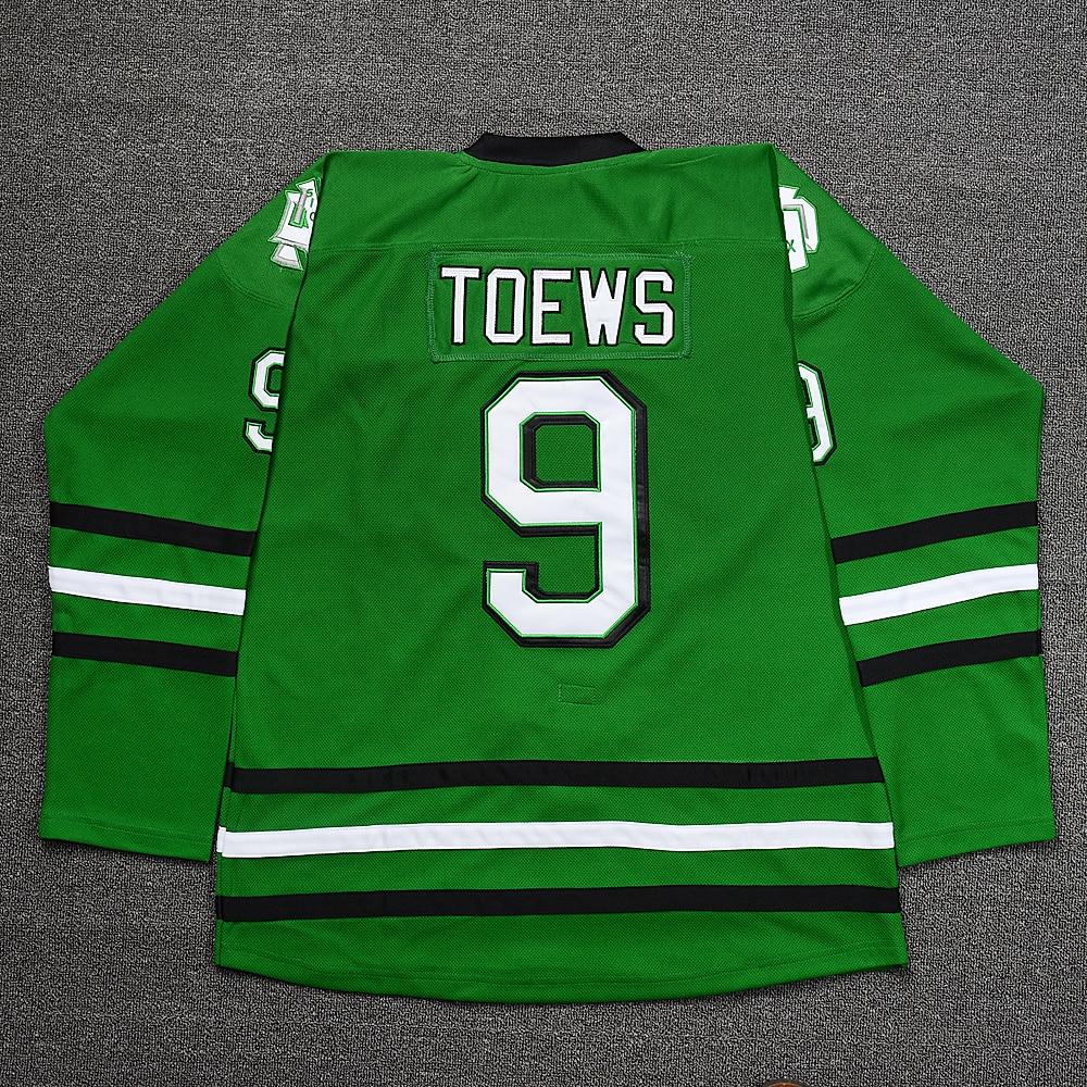 Fkltymg Jonathan Toews #9 SIOUX Ice Hockey Jersey Stitched Green S M L XL XXL XXXL женское платье brand new 2015 vestidos 5xl s m l xl xxl xxxl 4xl 5xl