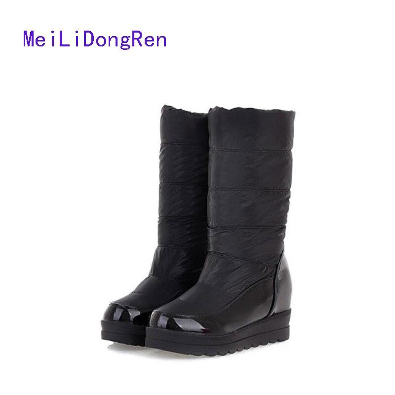 New Women Winter Boots Cotton Duvet Face Waterproof Snow Boots Flat Bottomed Non Slip Warm Boots