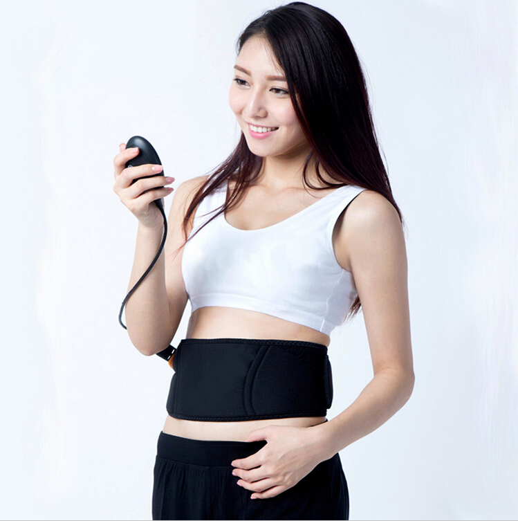 Rechargeable EMS Muscle stimulator Smart slimming massage belt female Abs Abdominal Muscle belt keep slim 10 trainning modes vogue black to red ombre lolita long straight side bang synthetic capless cosplay women s wig