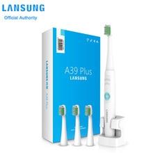 Электрическая зубная щетка аккумуляторная Lansung A39 плюс ультразвуковой зубная щетка IPX7 водонепроницаемый соник зубы щеткой с 3 глав 220 вольт зубная щётка