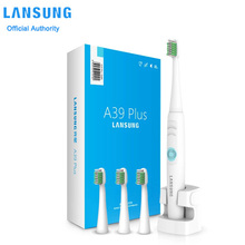 Szczoteczka elektryczna LANSUNG akumulator Lansung A39 Plus Ultra sonic szczoteczka IPX7 wodoodporna szczoteczka do zębów Sonic 4 głowice 220v