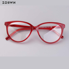 ZOBWN 2018 hot sale Women Eyeglasses red color Frame ladies Eye Glasses Optical Oculos Feminino round for myopic