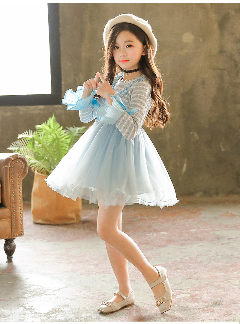 fbc32a35c66 model shown of this girls princess dresses long sleeve knitted dress
