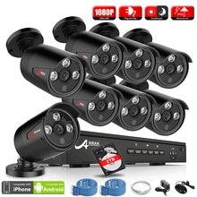ANRAN P2P Plug & Play 1080 P HD H.264 Array IR Im Freien Wasserdichte tag Nacht Sicherheit IP Kameras 8CH NVR POE CCTV-System 2 TB HDD