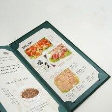 Изготовленный На Заказ итальянский pu кожаный зажим для меню