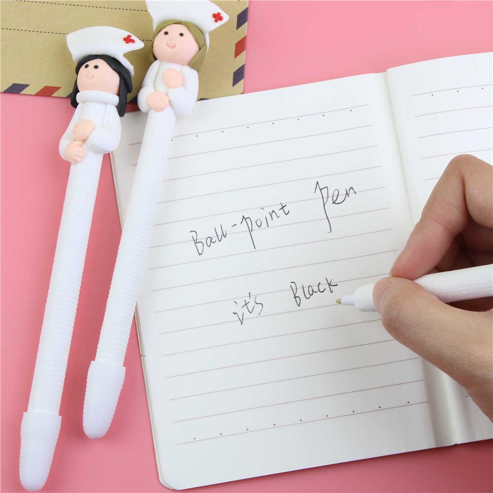 1 Pc Cute Kreatif Alat Tulis Grosir Lucu Dokter Perawat Polimer Caly Pena Karakter Pulpen