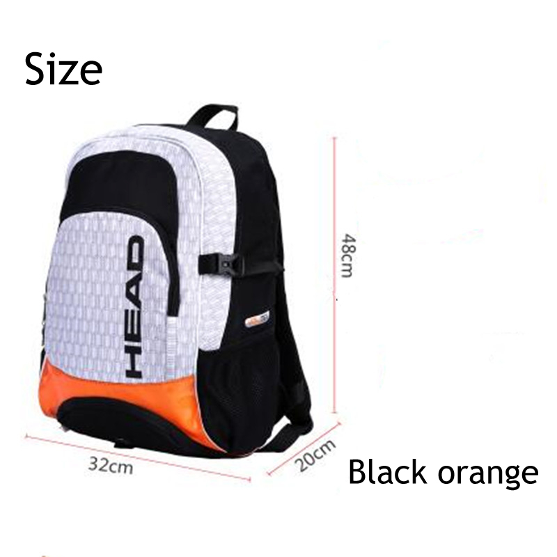 Head Tennis Racket Bag Double Shoulder Backpack With Independent Shoe Bag Outdoor Sports Training Hiking Can Hold 2-3 Rackets