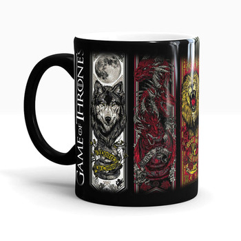 Game Of Thrones Mugs Tribal Totem Mug Color Changing Magic Mugs Cup Tea Coffee Mug Cup
