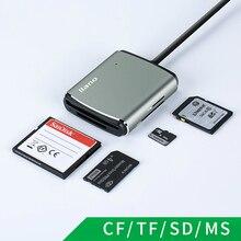 Llano 4 in 1 USB 3.0 Lettore di Smart Card Flash Multi Memory Card Reader per TF/SD/MS /CF 4 Carta di Leggere micro SD flash card usb