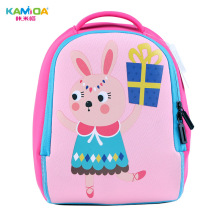 Rabbit Boy Kindergarten Backpack 3D Childrens School Bags Super Light Weight Loss Cute Cartoon Animal Shape Printing Schoolbag