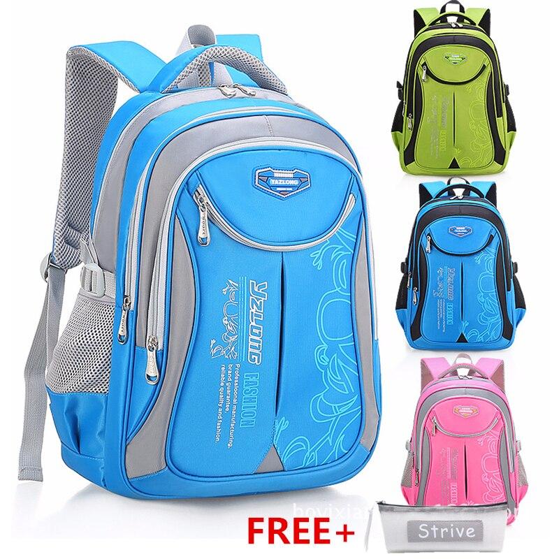 HLDAFA 2019 Hot New Children School Bags For Teenagers Boys Girls Big Capacity School Backpack Waterproof Satchel Kids Book Bag