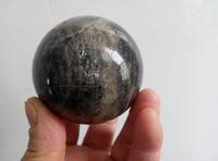 Rainbow!!!61mm Rare natural Black Sheen Moonstone Quartz Crystal Sphere Ball- Madagascar