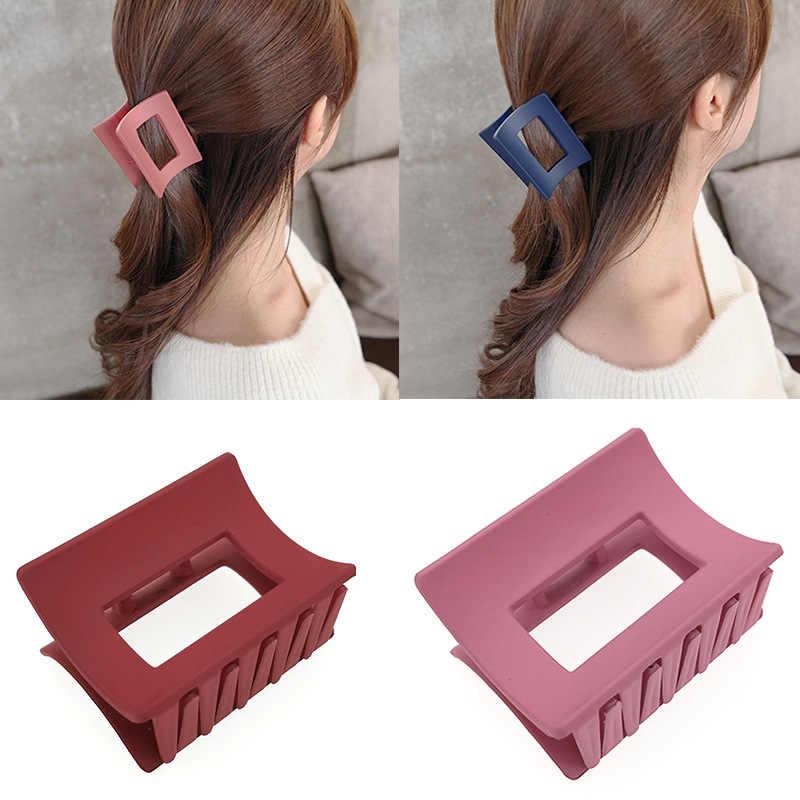 長方形アクリル女性のためのエレガントな韓国デザインヘアピンアクセサリージオメトリ髪カニ髪爪
