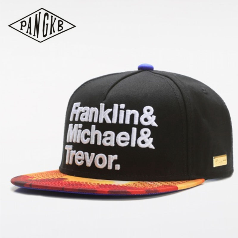 PANGKB Brand G-THANG CAP franklin michael trevor hip hop snapback hat for men women adult outdoor casual sun baseball cap bone