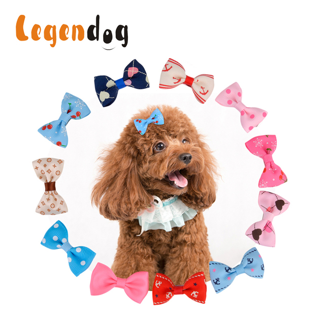 Legendog 10pcs20pcs In 1 Pet Dog Grooming Bows Hair Clips For Dogs