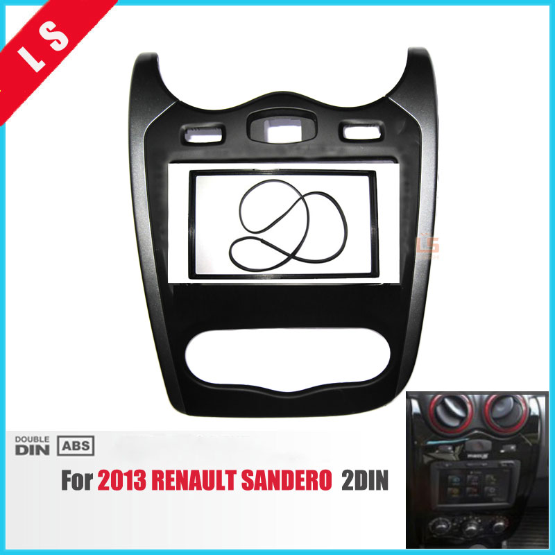 2 Din Car Radio Fascia for 2013 Renault Sandero 2DIN Stereo Face Plate Frame Panel Dash Mount Kit Adapter Bezel Facia Frame цена