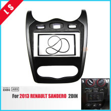 2 Din Car Radio Fascia for 2013 Renault Sandero 2DIN Stereo Face Plate Frame Panel Dash Mount Kit Adapter Bezel Facia Frame double din radio fascia for nissan 370z 2009 2012 facia frame panel dash mount kit adapter trim kit surrounded frame