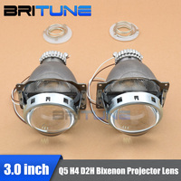 3.0'' Q5 Koito Bi xenon Projector Lens Using D2H D2S Mini HID Xenon Lamps H4 Cars Headlights Retrofit DIY Shrouds Accessories