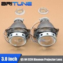 "3.0"" Q5 Koito Bi-xenon Projector Lens Using D2H D2S Mini HID Xenon Lamps H4 Cars Headlights Retrofit DIY Shrouds Accessories"