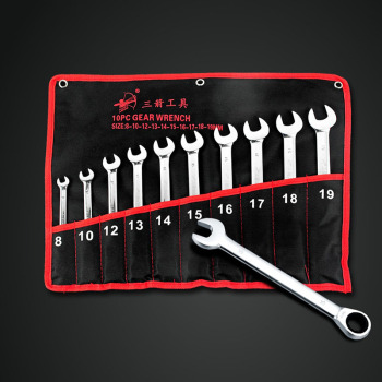 10pc the key CRV ratchet spanners combination wrenches set of auto repair hand tool for cars kit