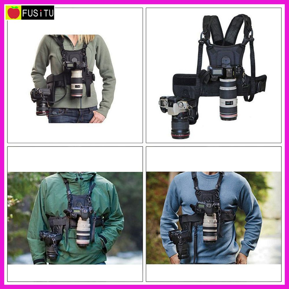 Micnova MQ-MSP01 Multi Camera Carrying Chest Harness System Vest with Side Holster for Canon Nikon Sony DSLR Cameras цена и фото