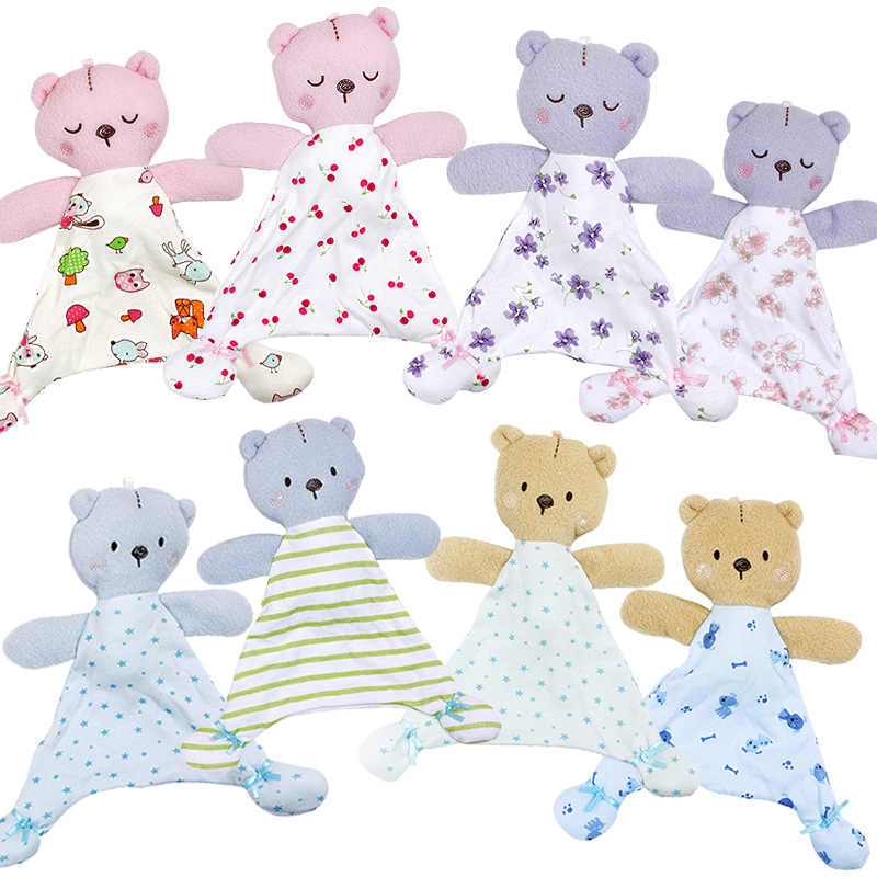 Baby Toys for 0-12 Months Bear Soothing Towel Soft Baby Doll for Newborns Cute Cartoon Animal Kids Stroller Toys
