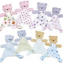 Baby Speelgoed Voor 0 12 Maanden Beer Rustgevende Handdoek Zachte Baby Pop Voor Pasgeborenen Leuke Cartoon Dier Kinderen Wandelwagen speelgoed