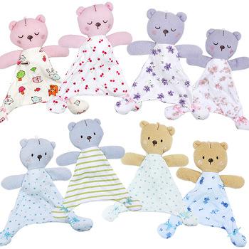 Zabawki dla niemowląt dla 0-12 miesięcy niedźwiedź kojący ręcznik miękka laleczka bobas dla noworodków Cute Cartoon zwierząt wózek dziecięcy zabawki tanie i dobre opinie 100 Cotton 0-3 miesięcy 4-6 miesięcy 7-9 miesięcy 10-12 miesięcy Ręcznik do twarzy Mini HT1245