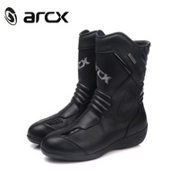 Women 's ARCX Motorcycle Boots Cow Leather Waterproof boot Racing size 36 39 Black Speed Motocross Boots Lady Moto Boot