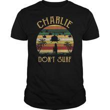 Charlie Don't Surf Ретро Винтажная футболка Черная Хлопковая мужская S-6XL классная Повседневная футболка для мужчин унисекс модная футболка