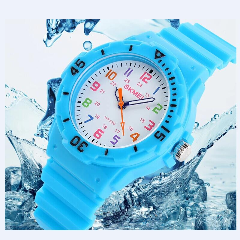 Mode Marke Kinder Quarzuhr Wasserdicht Gelee Kinder Uhren Für jungen mädchen Studenten Armbanduhr 7 FARBEN