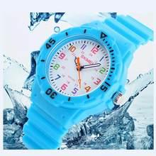 Crianças Marca de moda Geléia Crianças Relógios Para meninos meninas Estudantes de Quartzo Relógio À Prova D' Água Relógio de Pulso 7 CORES