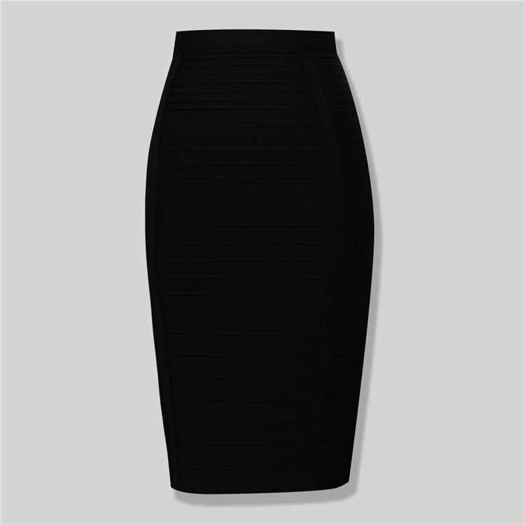 Marka Nerw Sexy Fashion czerwony czarny bandaż spódnica ołówkowa New Arrival 2016 elastyczny dopasowany do ciała spódnice 54cm