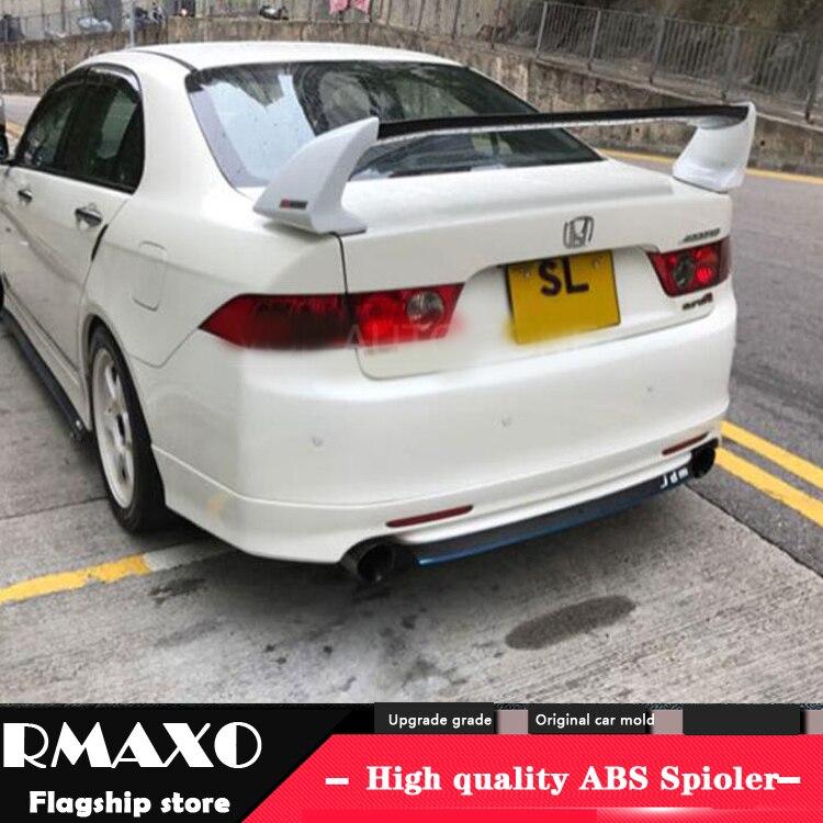 Para honda accord spoiler 2008-2013 accord fd2 alta qualidade material abs asa traseira do carro primer cor spoiler traseiro