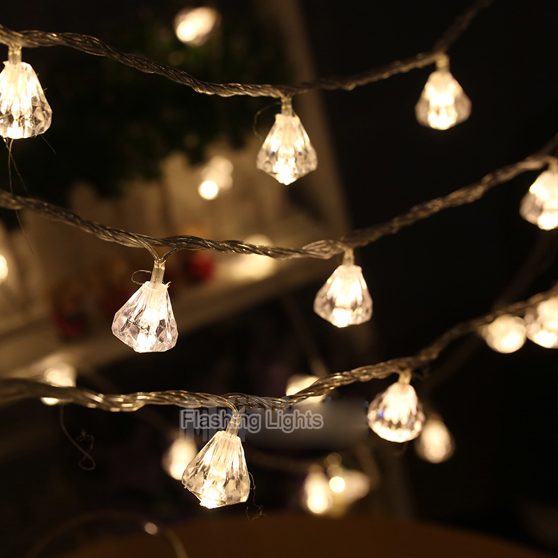 1.5M/3M Diamond Shaped Led String Lights Fairy Lights For Christmas Home Decor Wedding Party Galrand Decoration