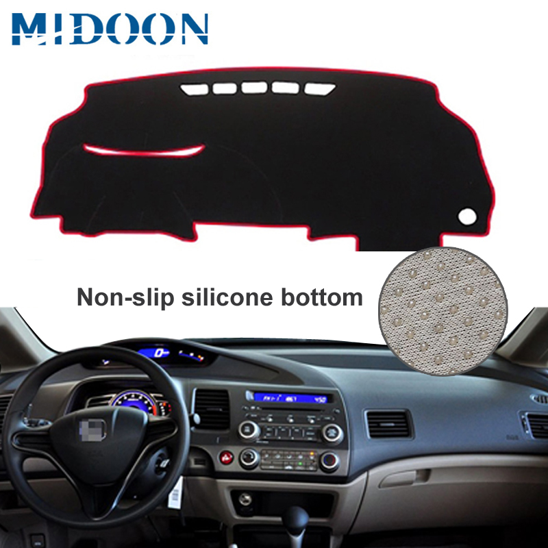 MIDOON Car Dashboard Cover Dash Mat Dash Board Pad Carpet Dashmat Anti-UV For Honda Civic Acura CSX 2006 2007 2008 2009 2010 201