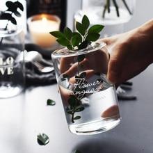 Nordic Style Glass Mini Vase Wedding Decoration Flower Vase Container Vaso Home Decor Tabletop Glass Vase Garden Decor Planter m style ваза настольная vase glass cool orange