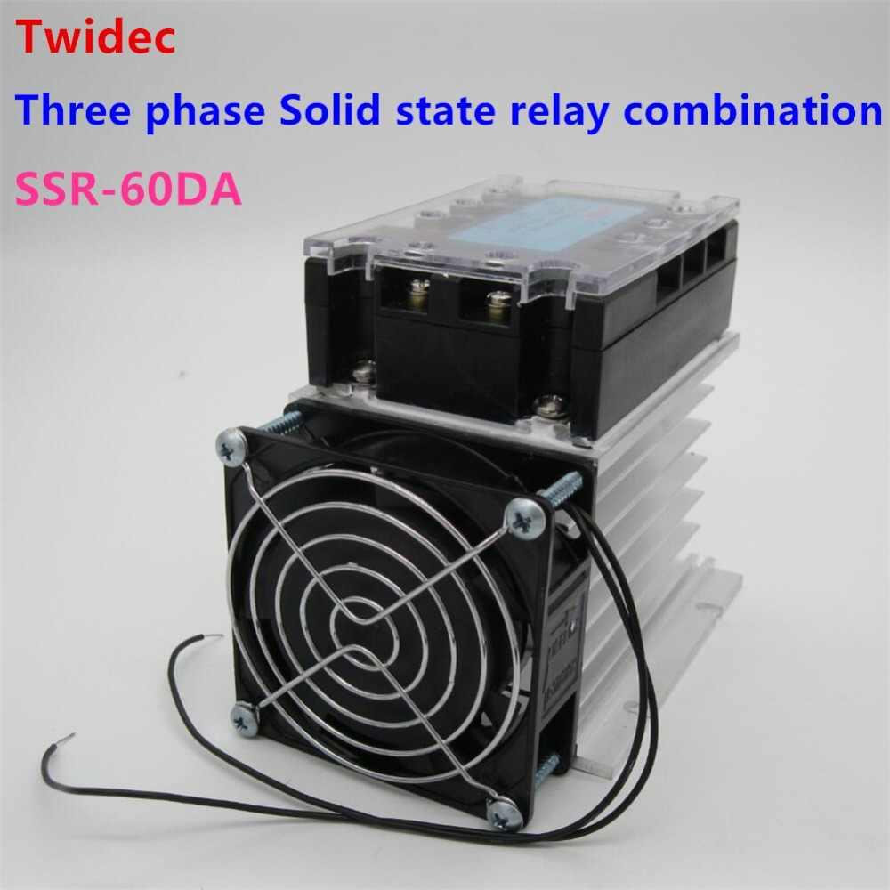 Высококачественное трехфазное твердотельное реле SSR 60DA 3 32 В постоянного тока до