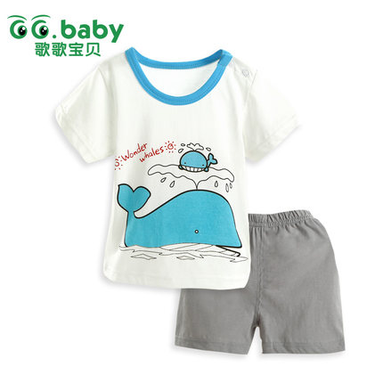 Summer Newborn Unisex Baby Clothes Sets Infant Tracksuits Costumes Short Sleeve Baby Clothing Sets Children Boys Outwear Animals baby clothing summer infant newborn baby romper short sleeve girl boys jumpsuit new born baby clothes