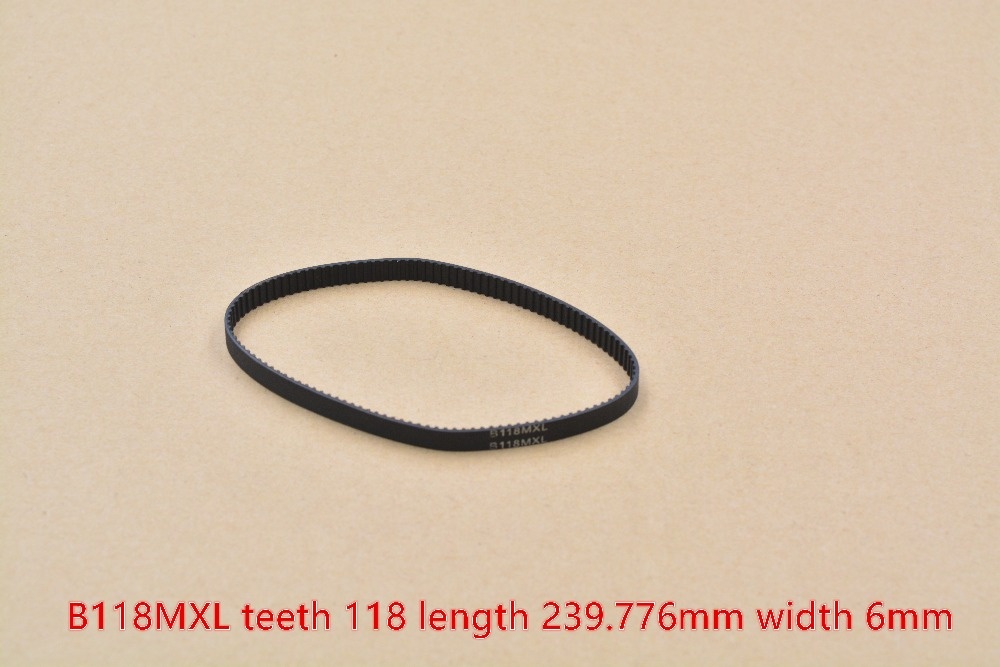 3d Printer Belt 94MXL B118MXL Closed Loop Rubber Timing  Teeth 118 Length 239.776mm Width 6mm 1pcs