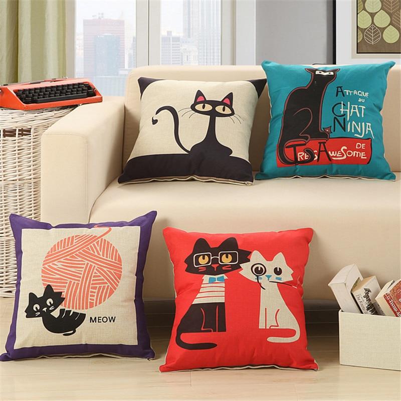 کارتونی گربه پنبه ای مبل پنبه ای مبل - منسوجات خانگی